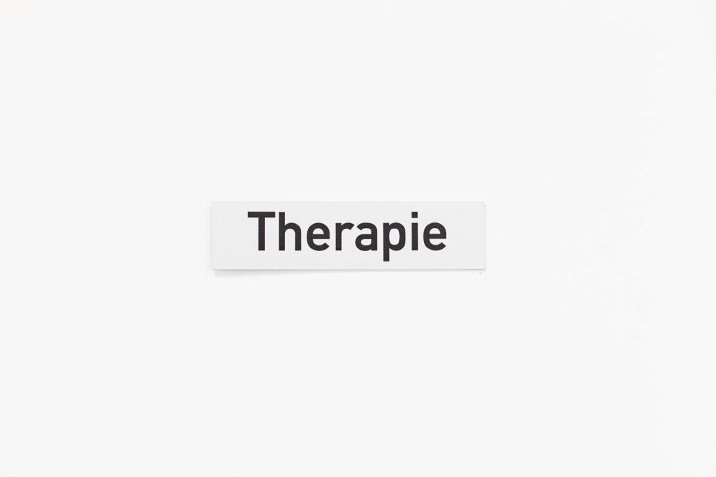 Türschild Therapieraum in der Praxis für Logopädie von Christina Buchgeher